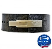 Longhorn™ Exotic Embossed Leather Print Lever Belt