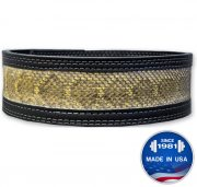 Longhorn™ Inset: Finished Leather with Genuine Snake Skin Lever Belt