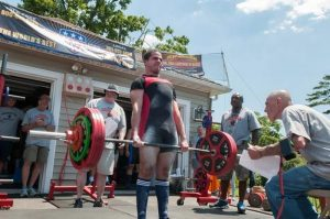 First time lifter Kevin Sanchez had the benefit of multi-time National and World Champion Linda Jo Belsito's preparation and coaching expertise
