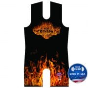 Orange Inferno Sublimated Singlet