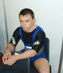 Pavlov Konstantin world championship 2004 South Africa, before the bench press.